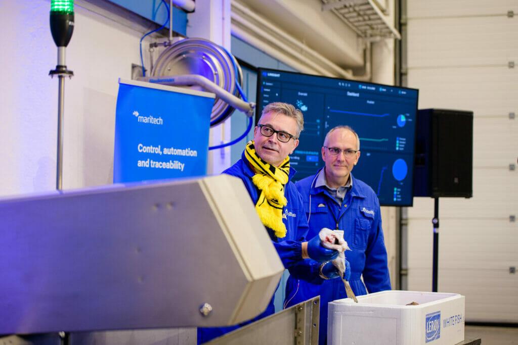 Senior Scientist Karsten Heia and Minister of Fishery and Seafood Odd Emil Ingebrigtsen